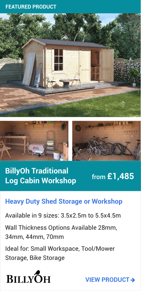 BillyOh Traditional Log Cabin Workshop