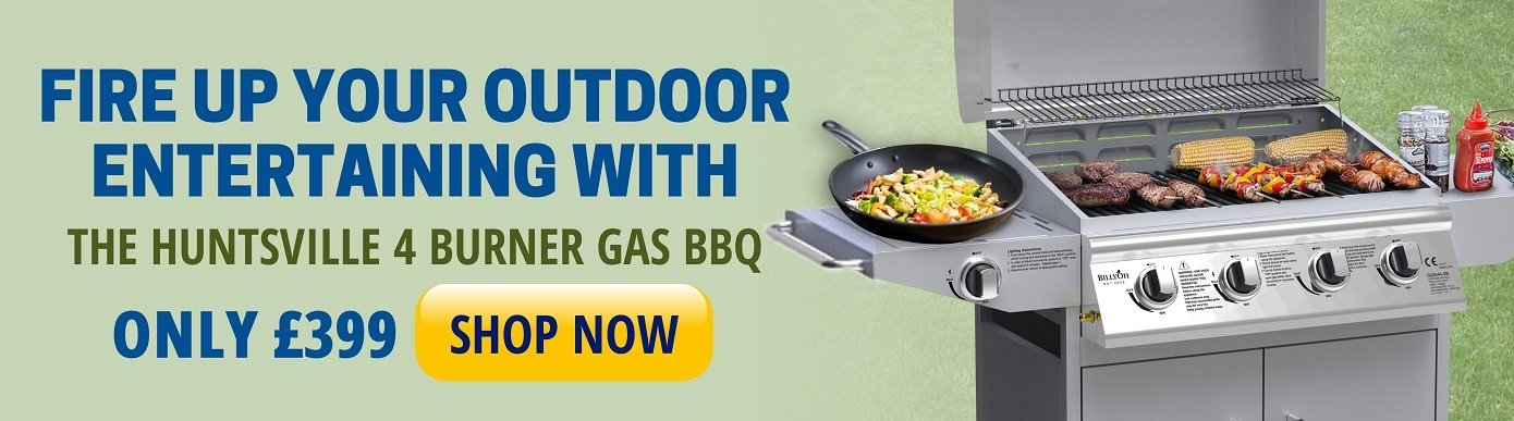 Fire up your outdoor entertaining with the huntsvlle 4 bunner gas bbq
