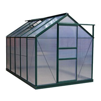 BillyOh Rosette Hobby Aluminium Greenhouse - Single Sliding Door, Twin-Wall Polycarbonate Glazing