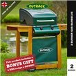 Outback Trooper 2 Burner Gas Barbecue - With Hose & Regulator