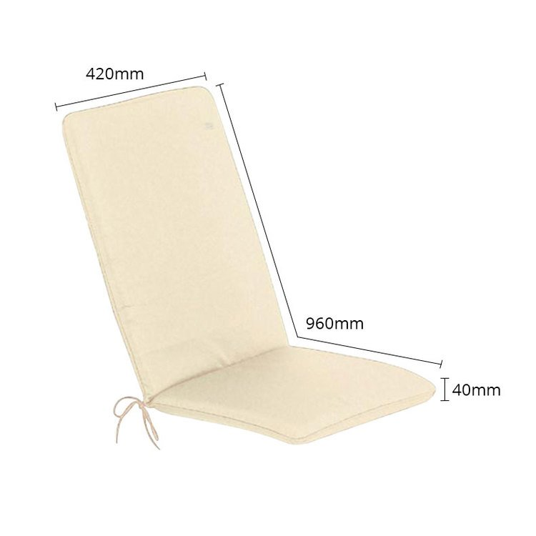 The CC Collection - Garden Furniture Cushions - Seat Pad/Back - Natural - Size