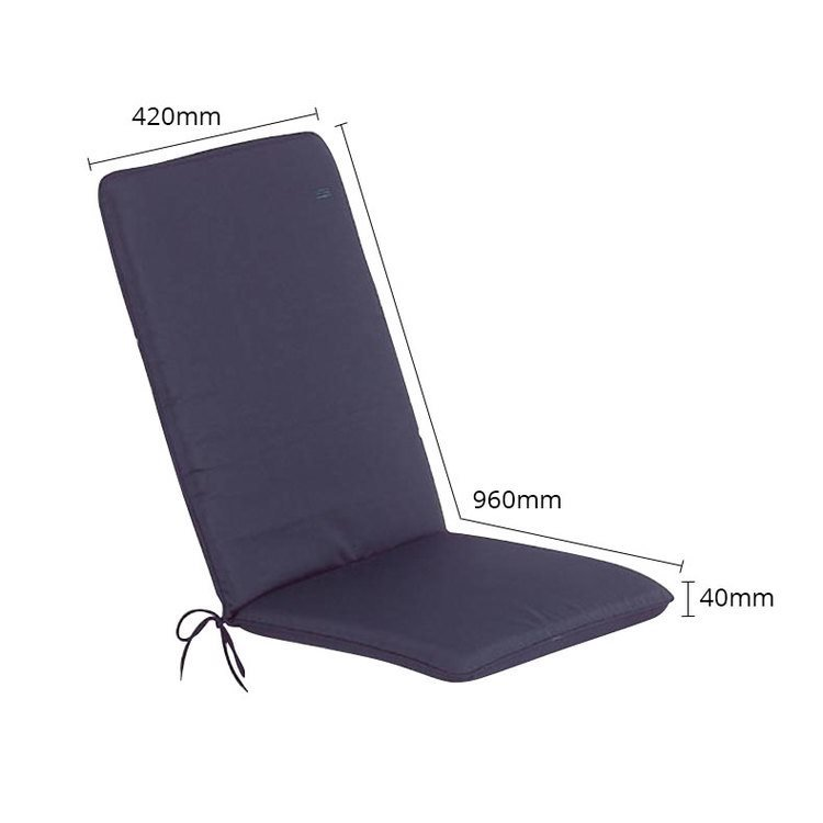CC - Garden Furniture Cushions - Seat Pad/Back - Navy Blue - Size
