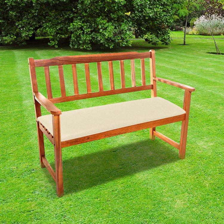Loft Bench Seat Natural: CC 2 Seat Garden Bench Cushion In Natural