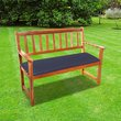 2 Seater Bench Cushion - Navy Blue
