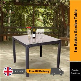 Keter Sumatra Garden Table - 1m Square Rattan Table