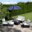 BillyOh Sandringham 4 Seater Black Rattan Sofa Set