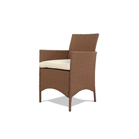 Brown Rattan Dining Armchair