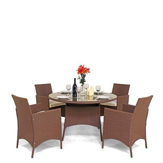 BillyOh Harewood 4 Seater Rattan Dining Set