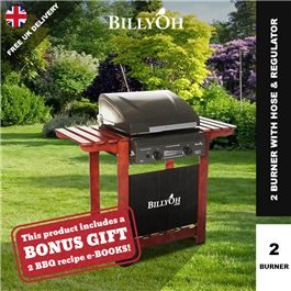 BillyOh Acorn Hooded Gas BBQ - 2 Burner with Hose & Regulator