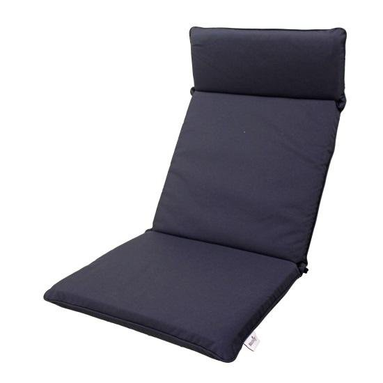 Navy Blue Recliner Delux Cushion
