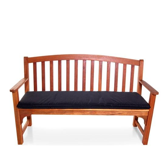 BillyOh Windsor 3 Seater High Back Wooden Garden Bench - Black Cushion