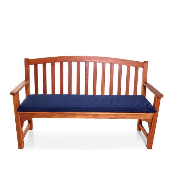 BillyOh Windsor 3 Seater High Back Wooden Garden Bench - Navy Blue Cushion