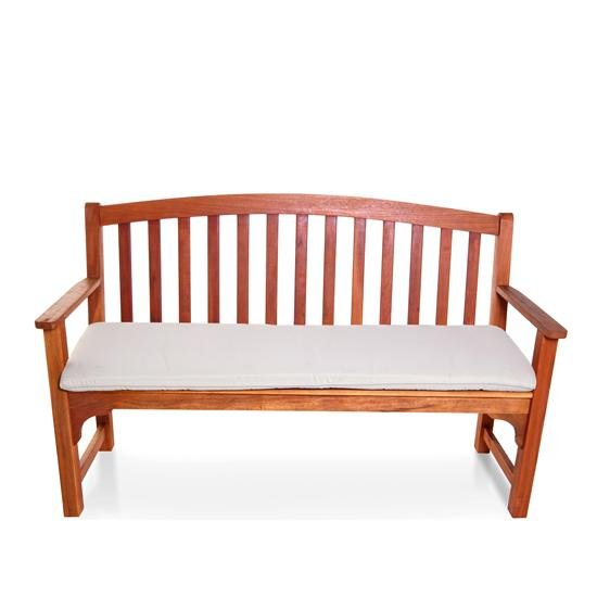 BillyOh Windsor 3 Seater High Back Wooden Garden Bench - Natural Cushion