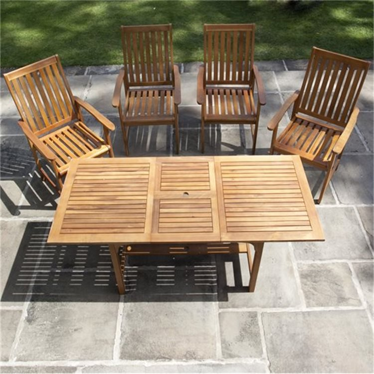 BillyOh Windsor 1.2m-1.6m 4/6 Seat Rectangular Extending Set