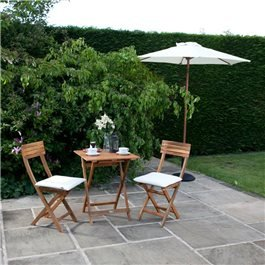 BillyOh Windsor 0.6m Square Bistro Set - 2 Seat set with Folding Chairs