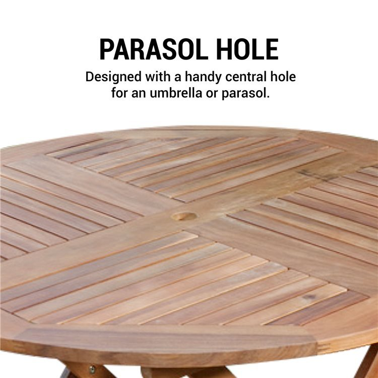 Wooden Garden Table With Parasol Off 72, Round Wooden Table For Garden