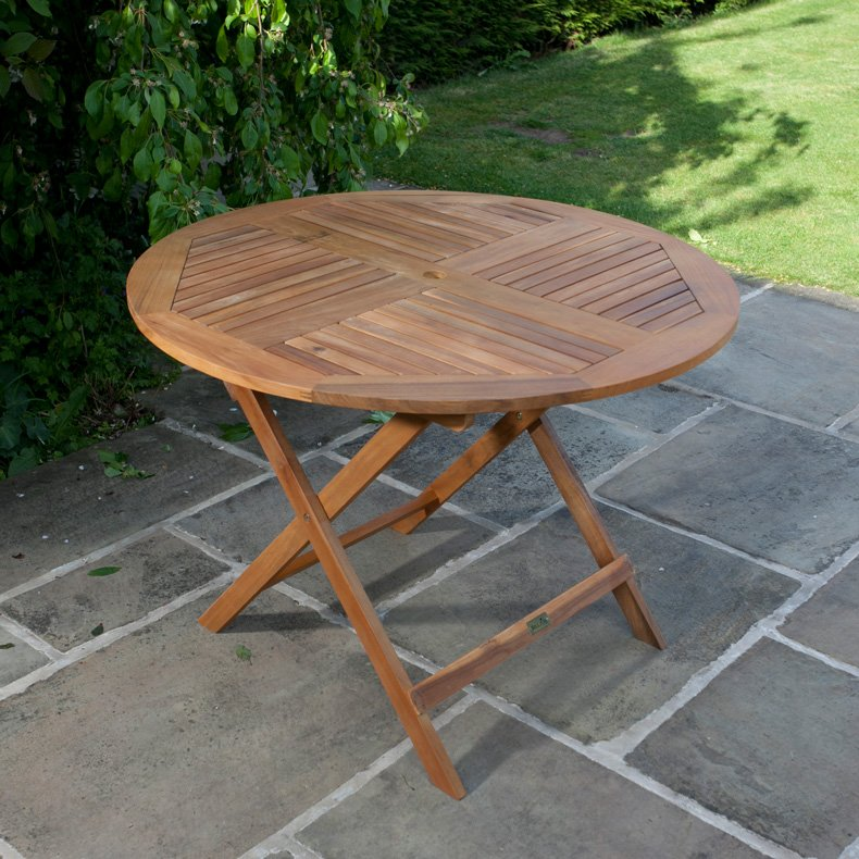 BillyOh Windsor Garden Table - 1.0m Round Folding
