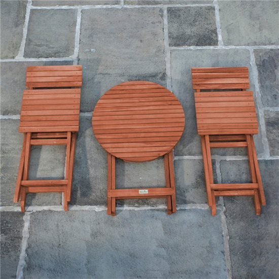 Round Folding Chair Set