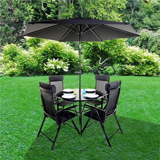 6f5725690efa BillyOh Comfort 4 Seater Round Metal Garden Furniture Set