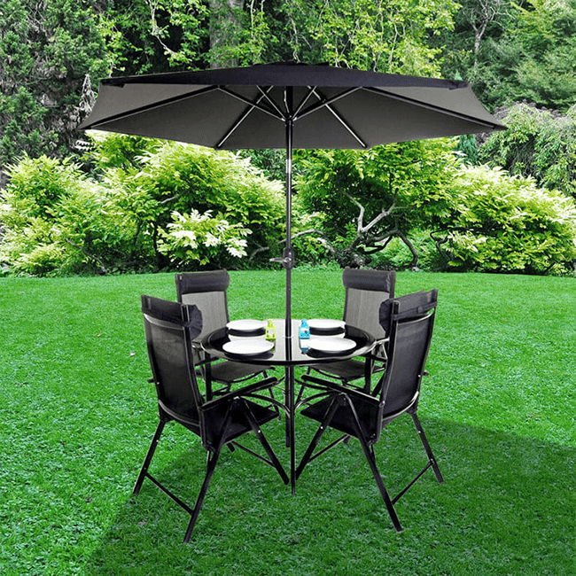 billyoh comfort 4 seater round metal garden furniture set - Garden Furniture 4 Seater
