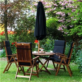BillyOh Windsor Wooden 4 Seater Oval Outdoor Dining Set