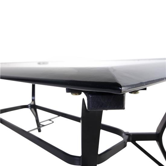 Aluminium Framed Glass-Top Table