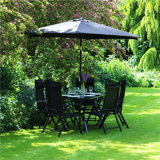 6 Seater Metal Garden Furniture Billyoh comfort 6 seater rectangular metal garden furniture set workwithnaturefo