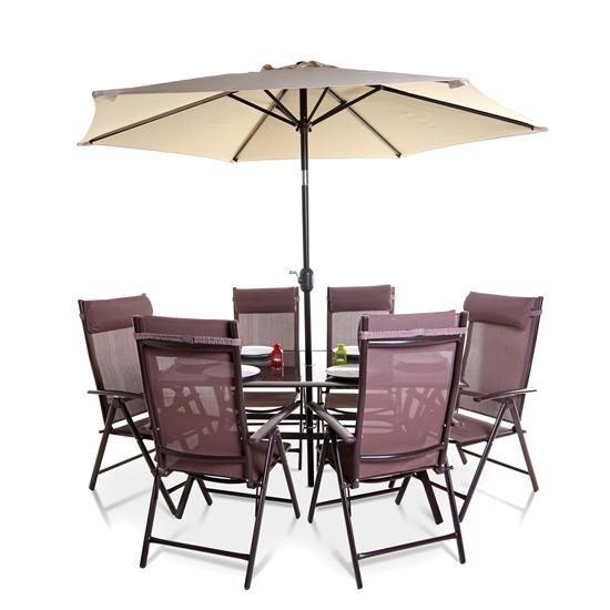 Billyoh Comfort 6 Seater Rectangular Metal Garden Furniture Set