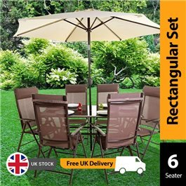 BillyOh Comfort 6 Seater Rectangular Metal Garden Furniture Set