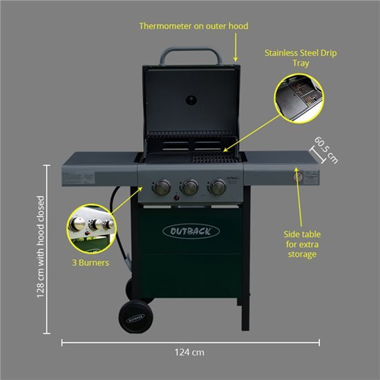 Meteor 3 Burner - Green