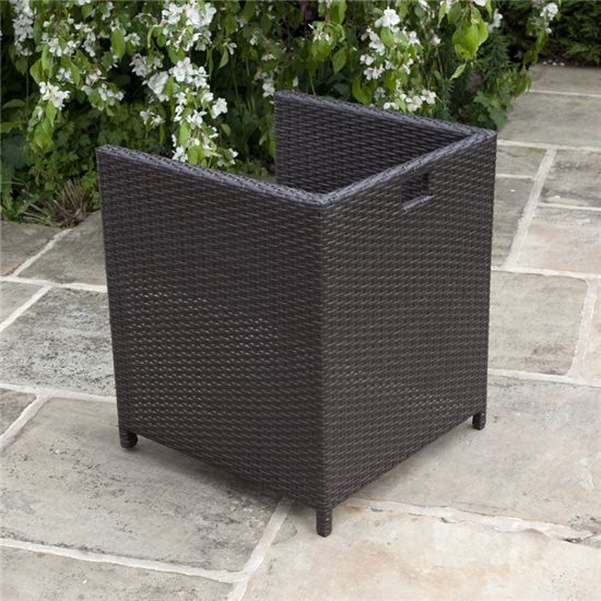 BillyOh Rosario Flat Weave Rattan 6 Seater Cube Set includes Cushions