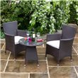BillyOh Rosario Flat Weave Bistro 2 Seater Set Includes Cushions