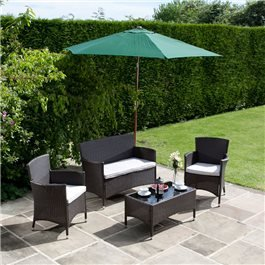 BillyOh Rosario Brown 4 Seat Classic Rattan Lounge Set
