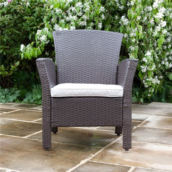 BillyOh Rosario Flat Weave Rattan Modern Lounge Set Includes Cushions