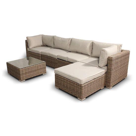 BillyOh Sala Natural 5 Seat Rattan Corner Sofa Set