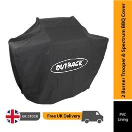 Outback BBQ Weather Cover - Trooper and Spectrum Hooded 2 Burner BBQ Cover