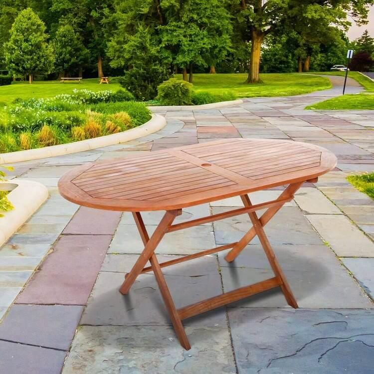 BillyOh Windsor Garden Table   1 4m Oval Folding. Garden Tables   BillyOh