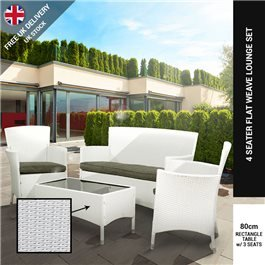 BillyOh Rosario White 4 Seat Classic Rattan Lounge Set