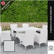 BillyOh Rosario White 6 Seat Rectangular Rattan Dining Set