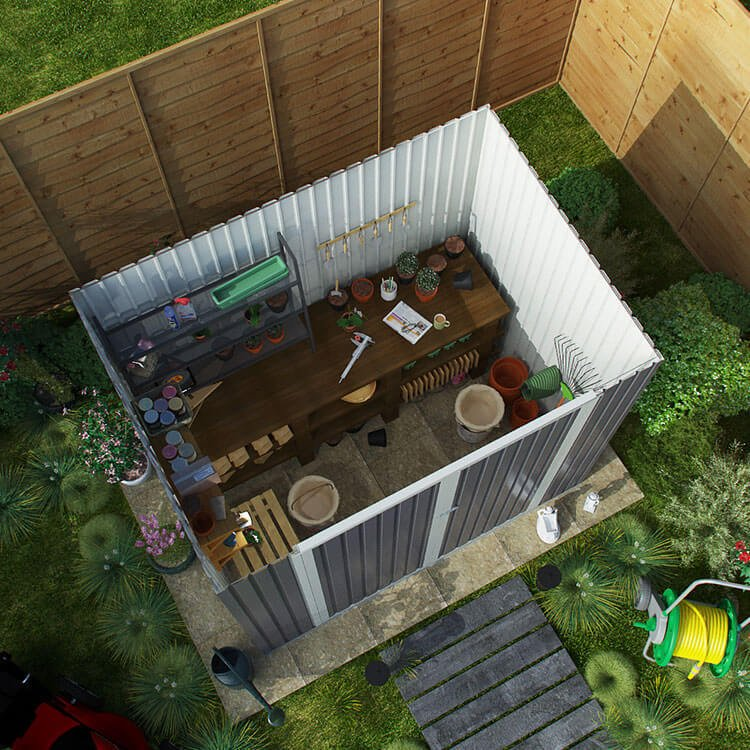 BillyOh Combo Pent Metal Shed