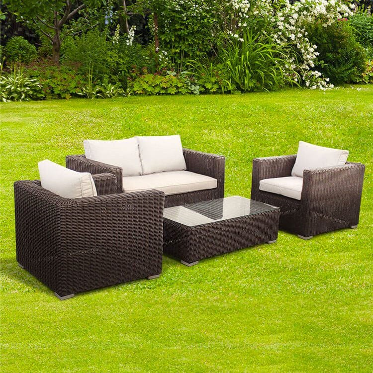 4 Seat Sofa Set - Dark Brown