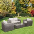 4 Seater Lounge Set - Natural