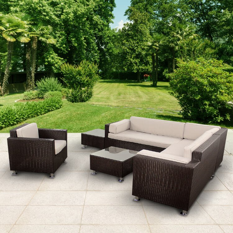 Prime Billyoh Rosario Patio 6 Seat Sofa Set In Dark Brown Cjindustries Chair Design For Home Cjindustriesco