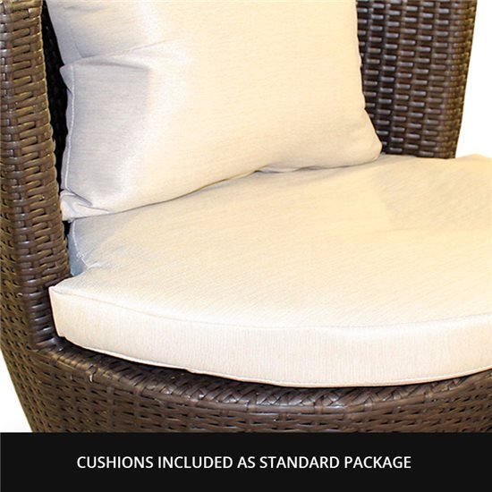 2-Seat Rattan in Dark Brown