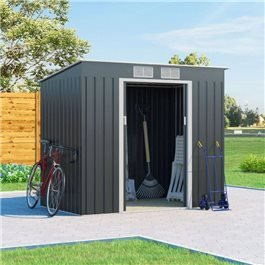 BillyOh Cargo Pent Metal Shed Including Foundation Kit