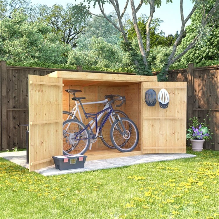 BillyOh Mini Keeper Overlap Pent Store Shed