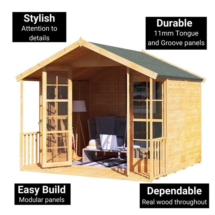 BillyOh Lily Tongue and Groove Apex Summerhouse