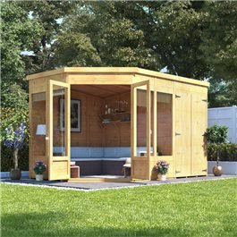 BillyOh Penton Corner Summerhouse with Side Store