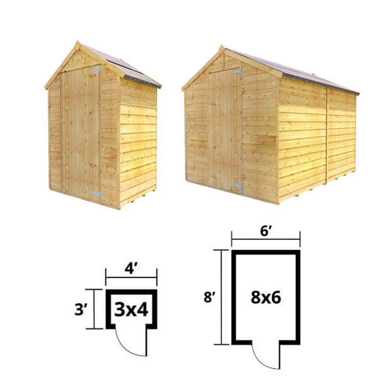 BillyOh Storer Overlap Apex Shed