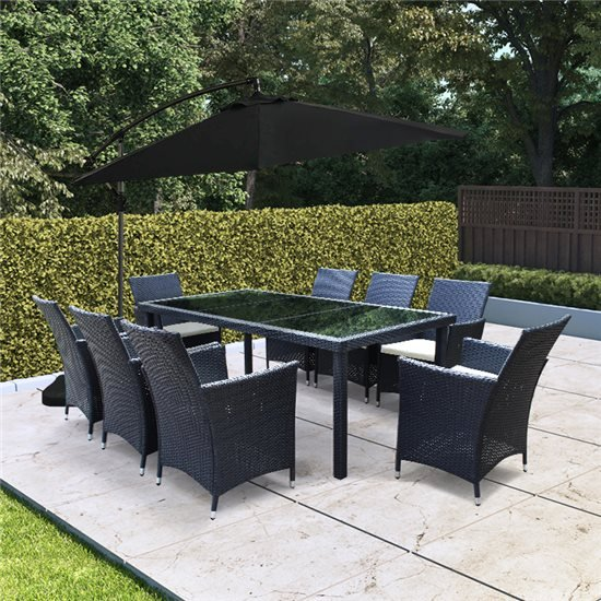 Phenomenal Billyoh Siena 8 Seater Rectangular Outdoor Rattan Dining Set Home Interior And Landscaping Ponolsignezvosmurscom